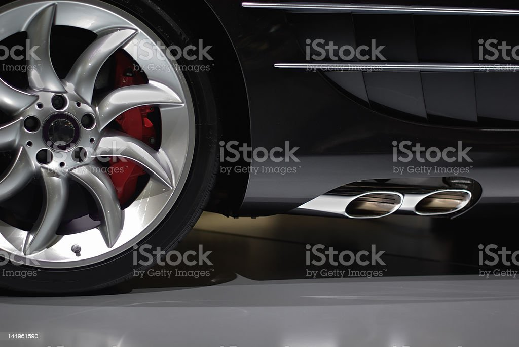 Supercar detail stock photo