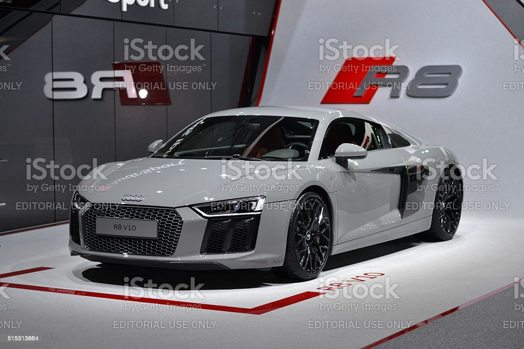 Supercar from Audi - R8 V10 stock photo