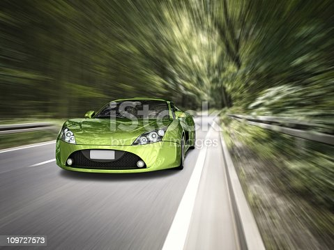 istock supercar in forest 109727573