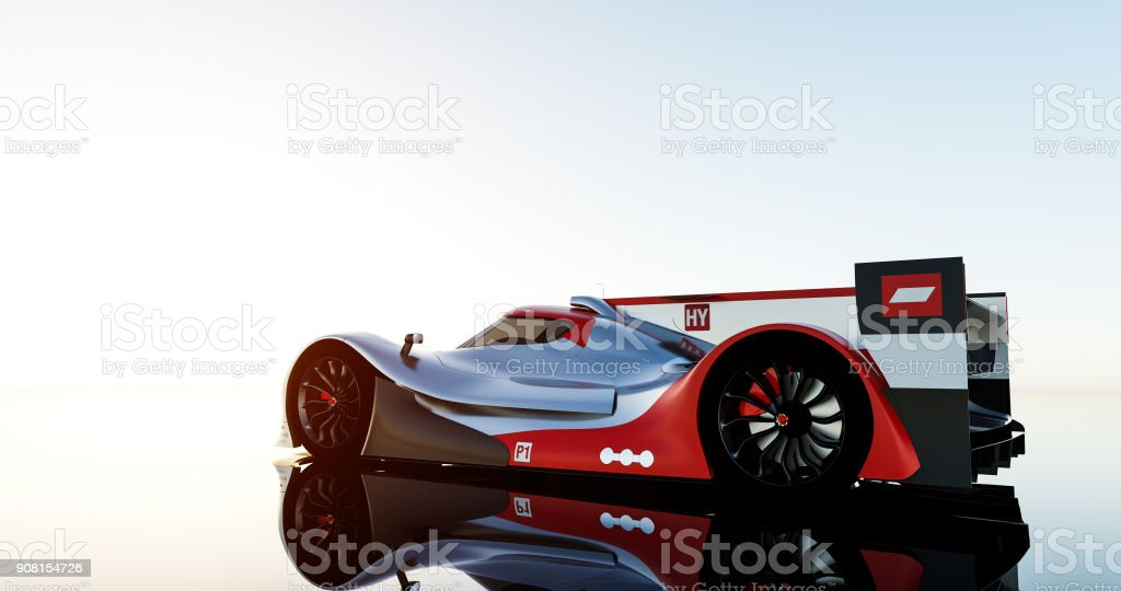 supercar, prototype de lemans, rendu photoréaliste - Photo