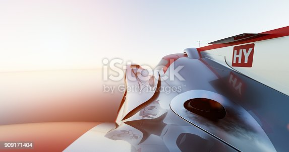 fast sports car for motorsports, lemans prototype. Car of my own design, legal to use.Photorealistic render. Livery design and text is generic.