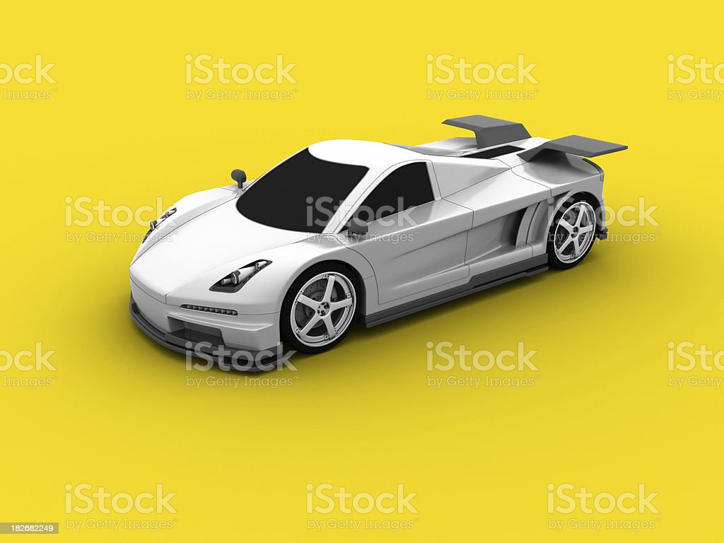 Supercar on Yellow royalty-free stock photo