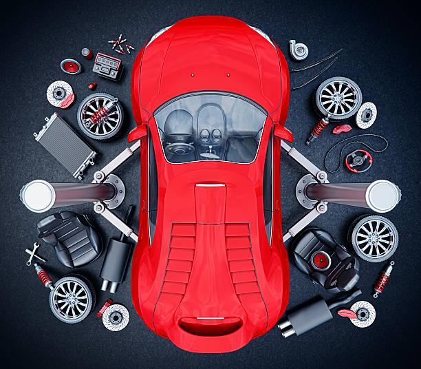 supercar parts stock photo