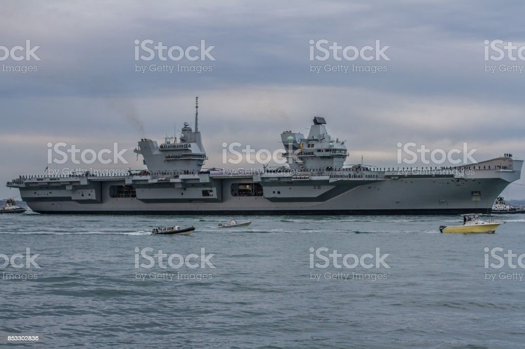 Supercarrier or warship stock photo
