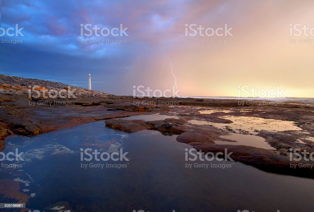 Supercell over Kommetjie, South Africa stock photo