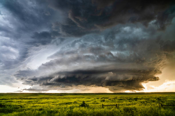 Supercell storm cloud stock photo