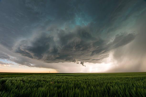 supercell trovoadas no great plains, tornado alley, eua - tornado - fotografias e filmes do acervo
