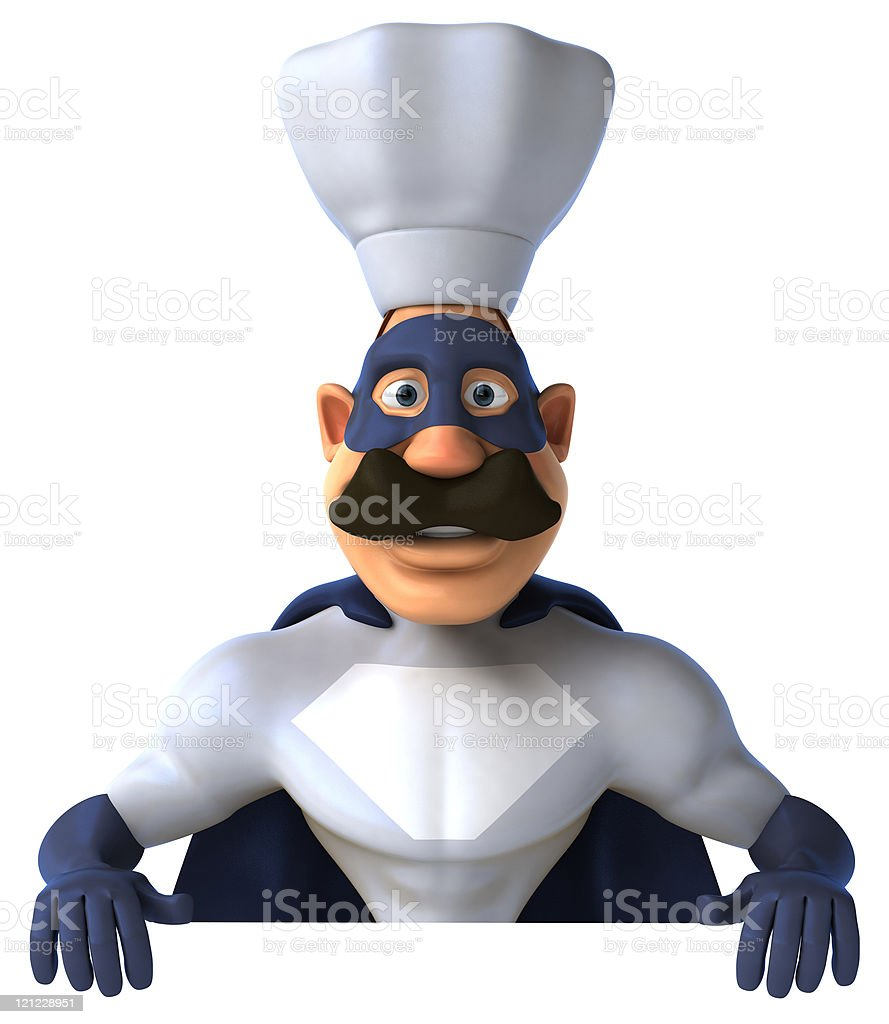 Superchef royalty-free stock photo