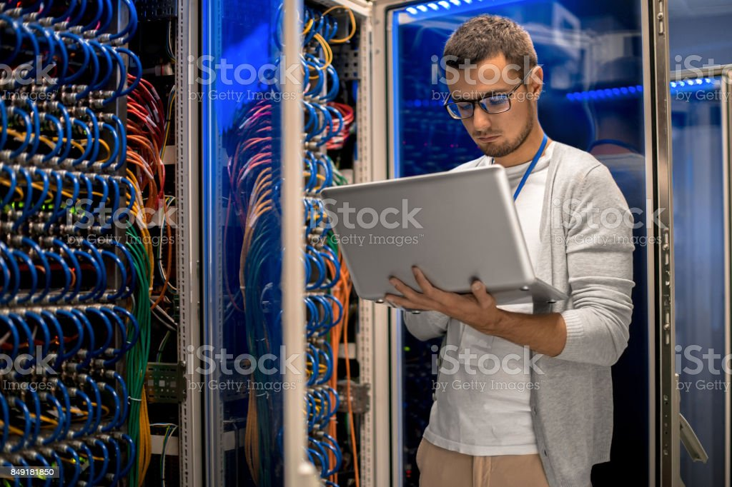 Supercomputer Manager stock photo