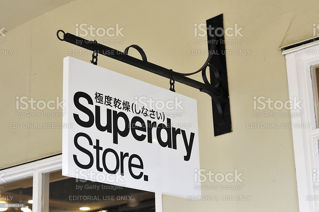 Superdry store stock photo
