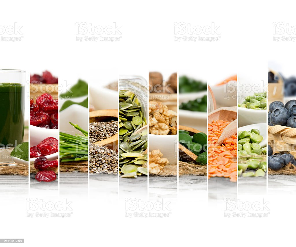 Superfood Mix Slices stock photo