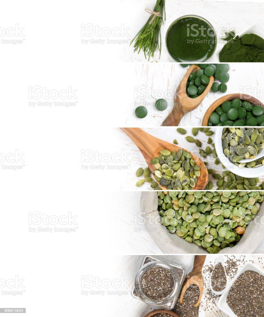 Superfood Mix Slices stock photo