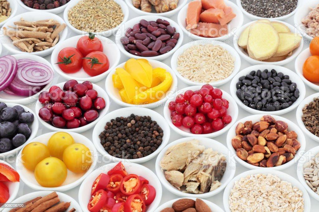 Superfood Ernährung für ein gesundes Herz - Lizenzfrei Abnehmen Stock-Foto