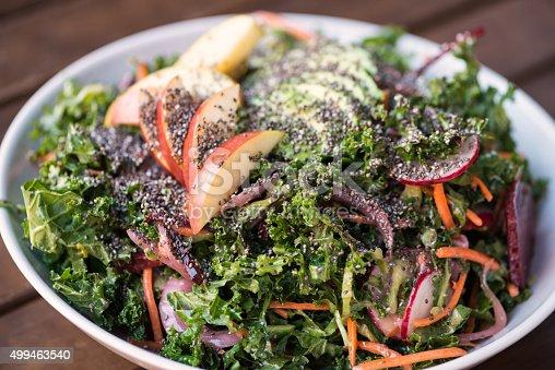 istock Superfood Salad with Kale, Apple, Chia Seeds, Avocado, Carrots, Radish 499463540