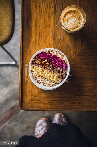 857575080istockphoto Superfood smoothie bowl on a wooden table 921766030