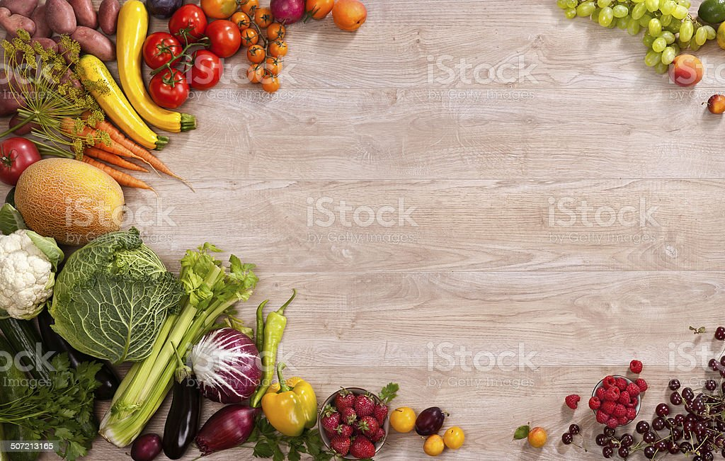 Superfoods background stock photo