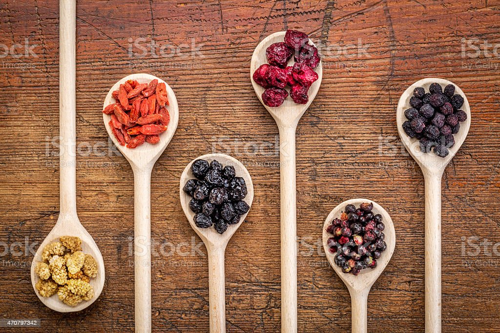 superfruit berry collection stock photo
