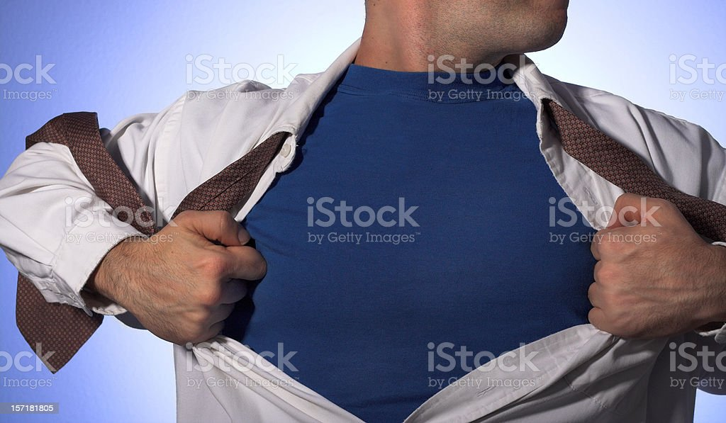 Superguy stock photo