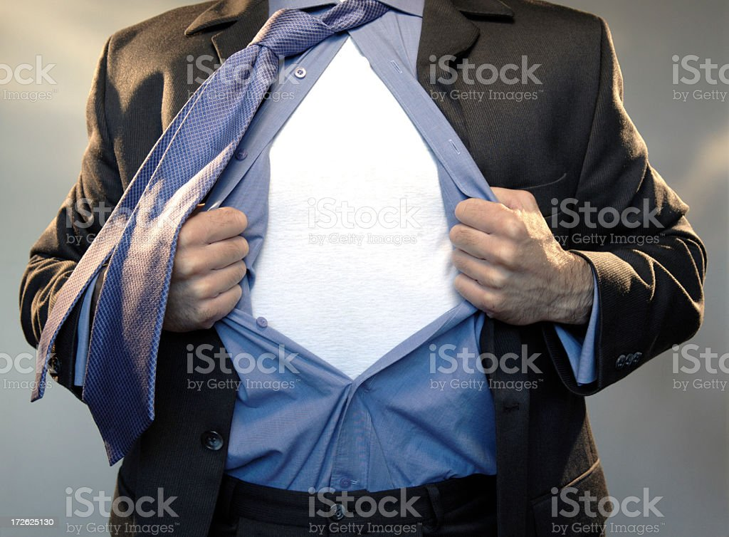 superhero add text to chest royalty-free stock photo