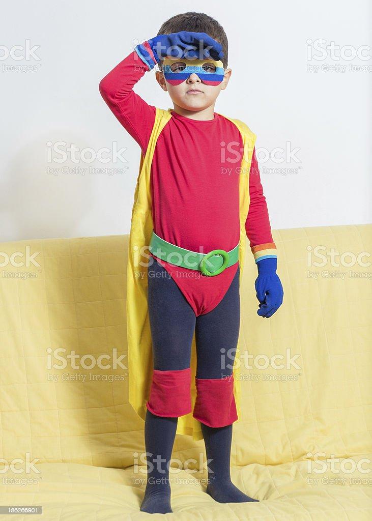 Superhero boy royalty-free stock photo
