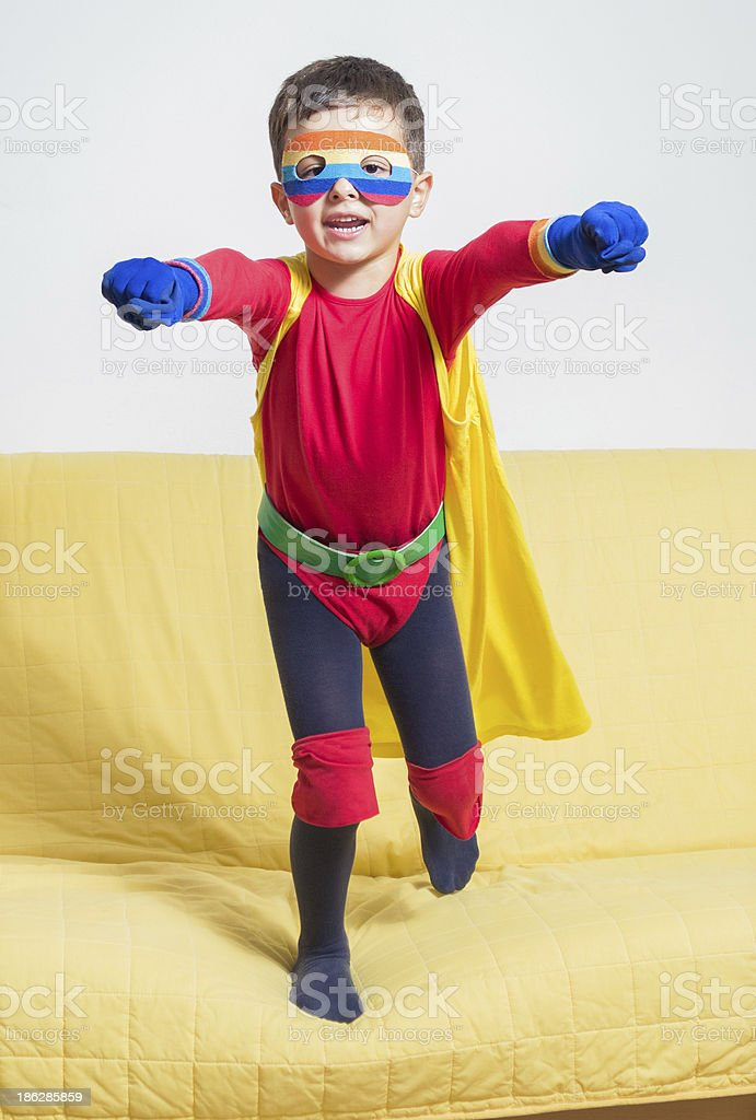 Superhero boy royalty-free stock photo