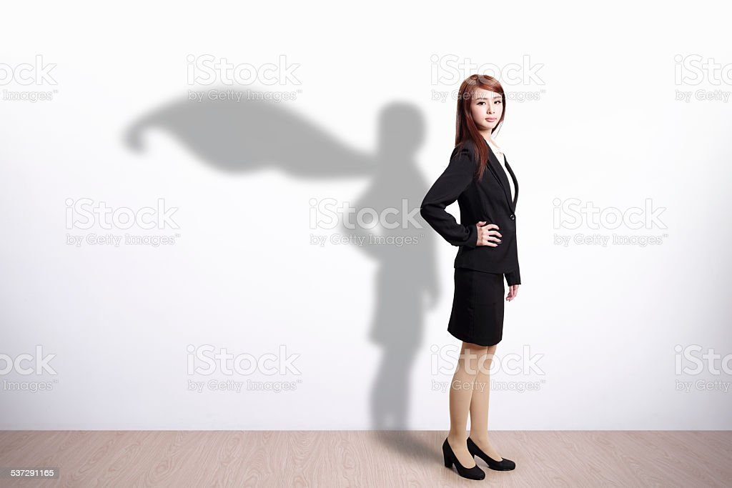 Superhero Business Woman stock photo
