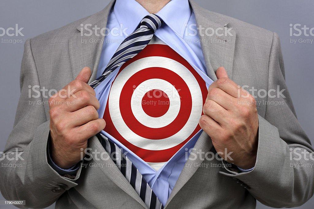 Superhero businessman royalty-free stock photo