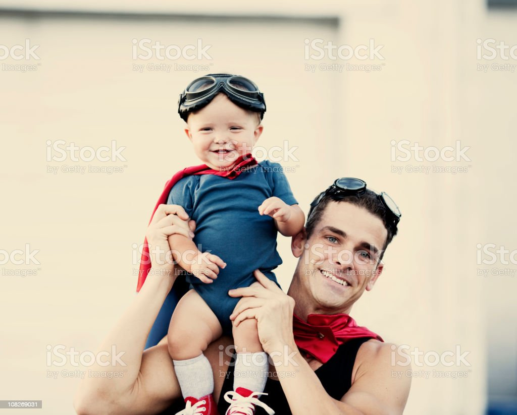 Superhero Duo royalty-free stock photo