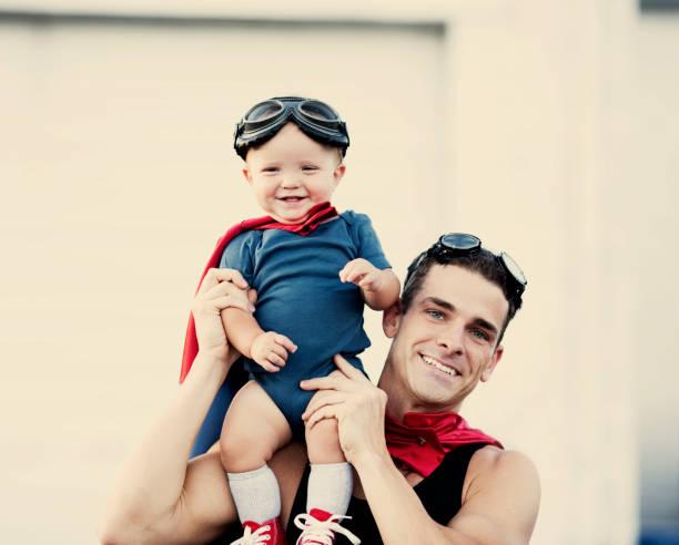 Superhero Duo stock photo