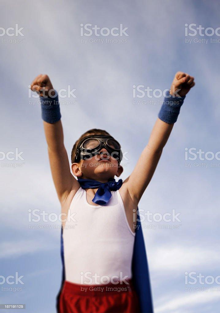 Superhero Fly Away royalty-free stock photo