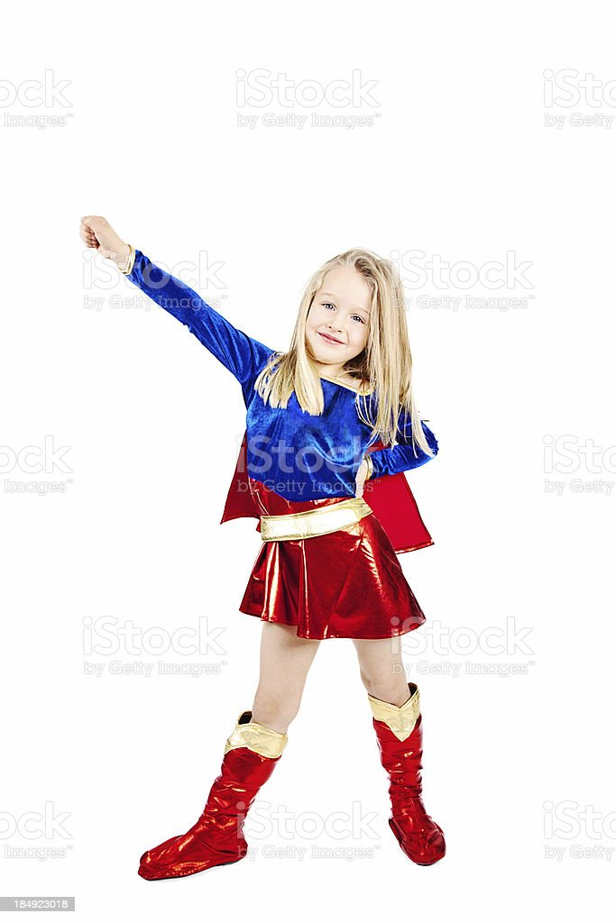 Superhero Girl royalty-free stock photo