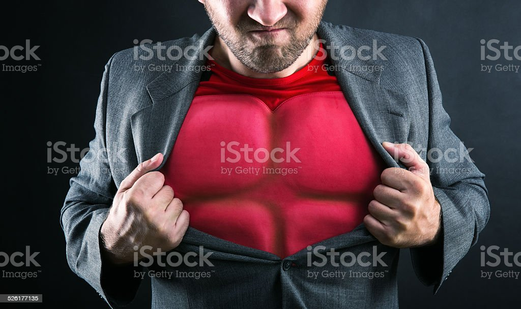 Superhero inside stock photo