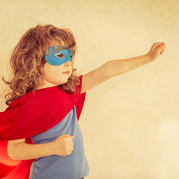 Garoto super-herói - foto de acervo