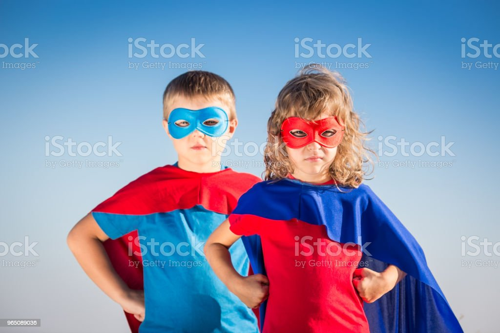 Superhero kids royalty-free stock photo