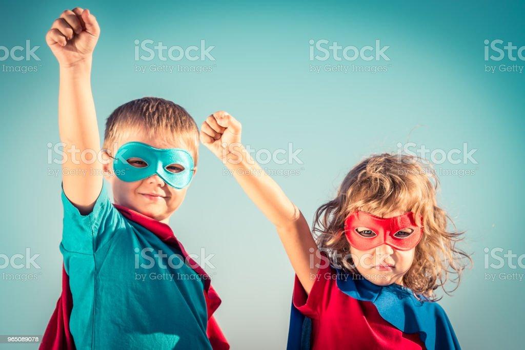 Superhero kids zbiór zdjęć royalty-free