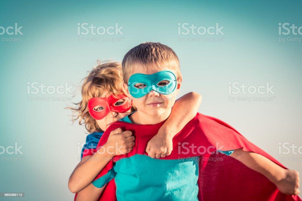 Superhero kids royalty-free stock photo
