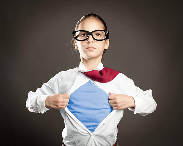 superhero little girl - superwoman barn bildbanksfoton och bilder