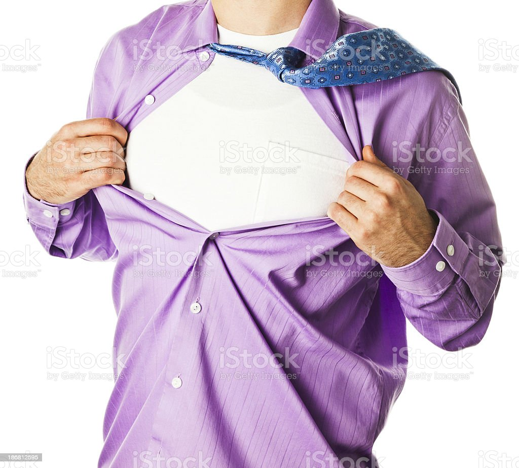 Superhero on White stock photo