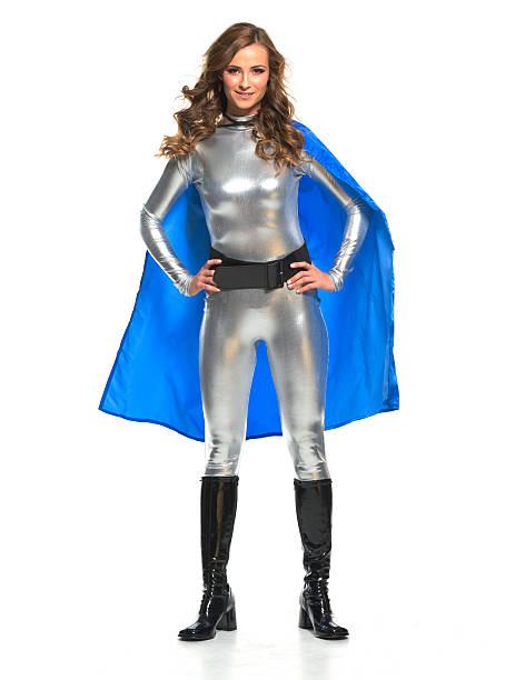 Superhero on White stock photo