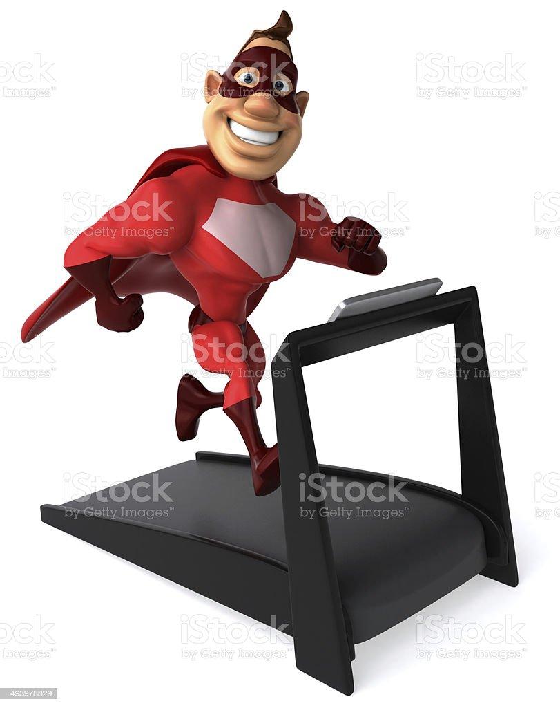 Superhero royalty-free stock photo