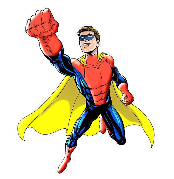 superheld  - cartoon kostüme stock-fotos und bilder