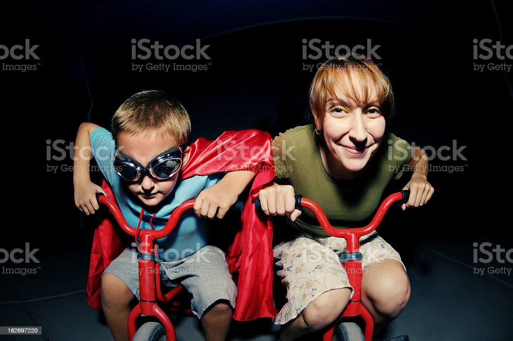 Superhero Race stock photo