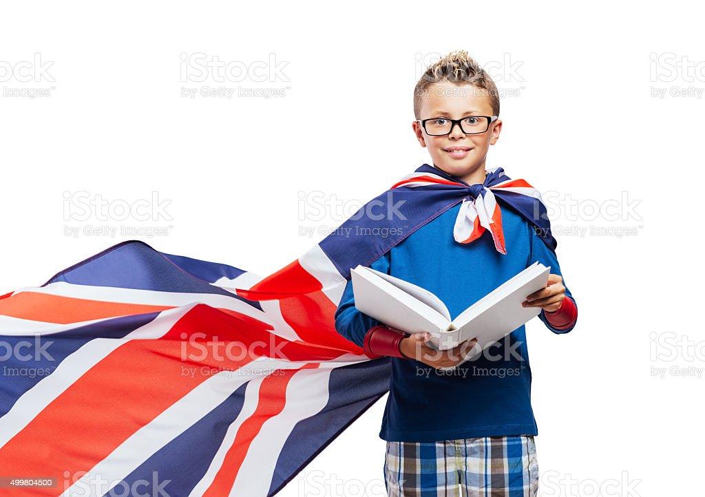 Super-héros lisant un livre - Photo