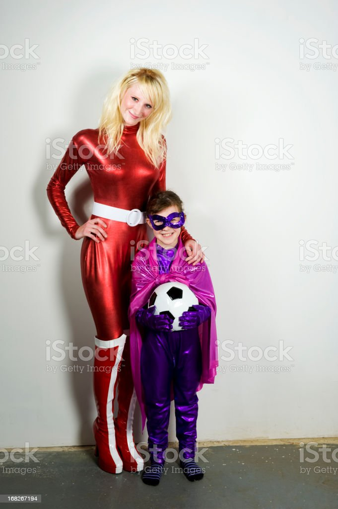 Superhero Soccer Mom stock photo
