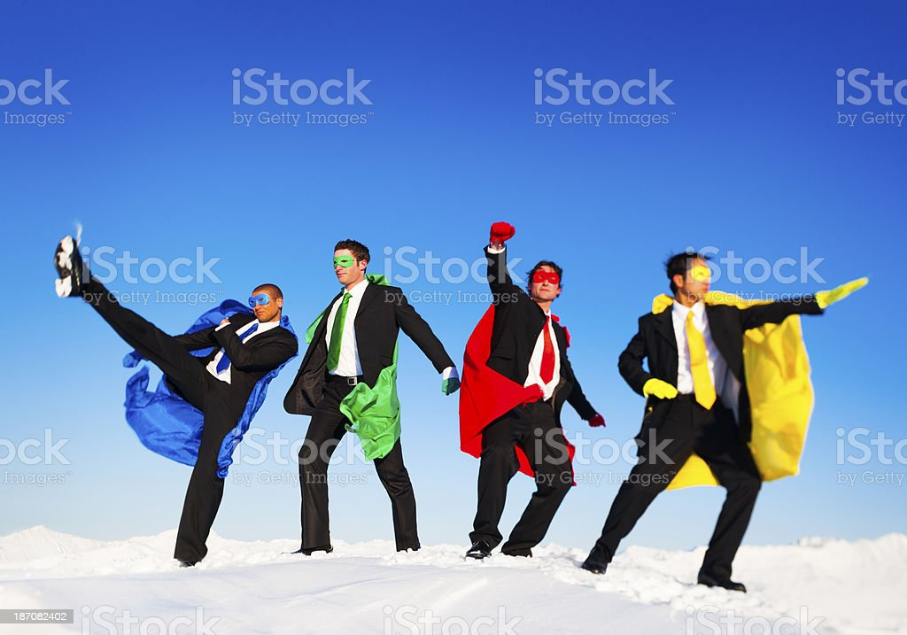 Superhero Team royalty-free stock photo