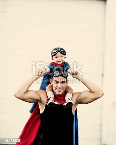 istock Superhero Toddler 108273328