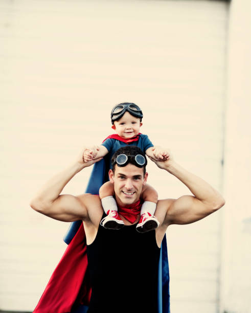 Superhero Toddler stock photo