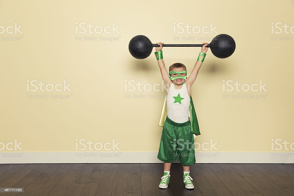 Superhero Training stock photo