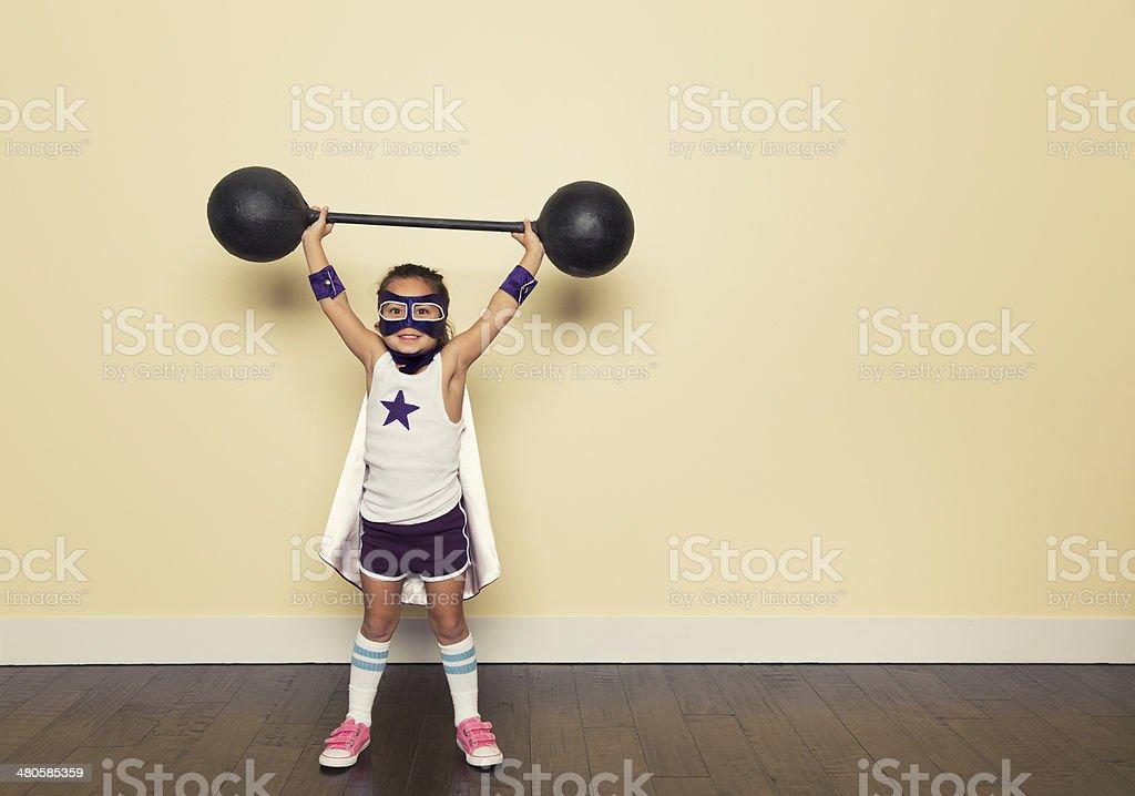 Superhero Training stock photo