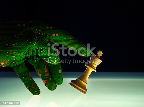 istock Superior Artificial Intelligence Wining Chess Concept 517407438